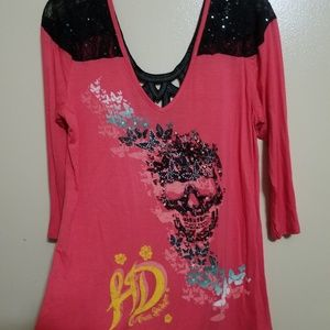 Harley Davidson Pink and Black Shirt